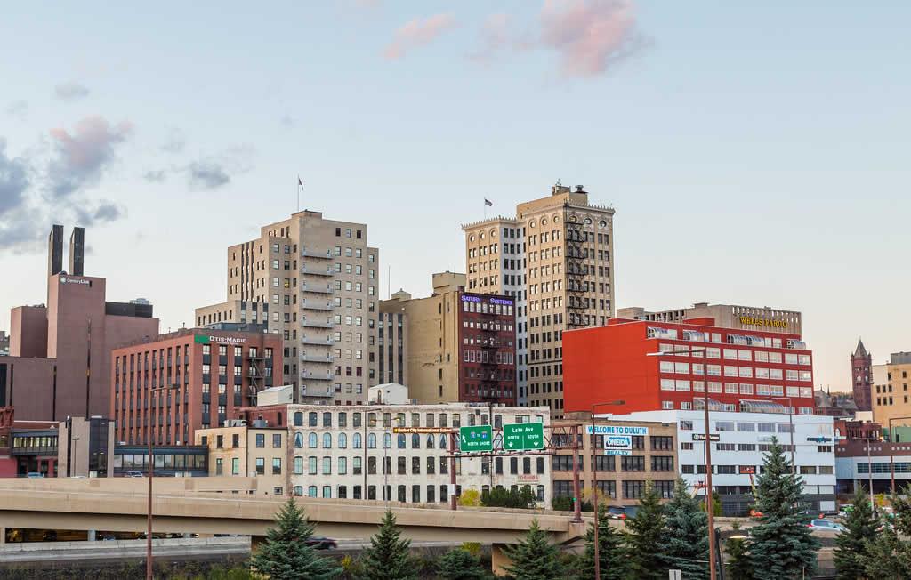 Downtown Duluth Minnesota Skyline